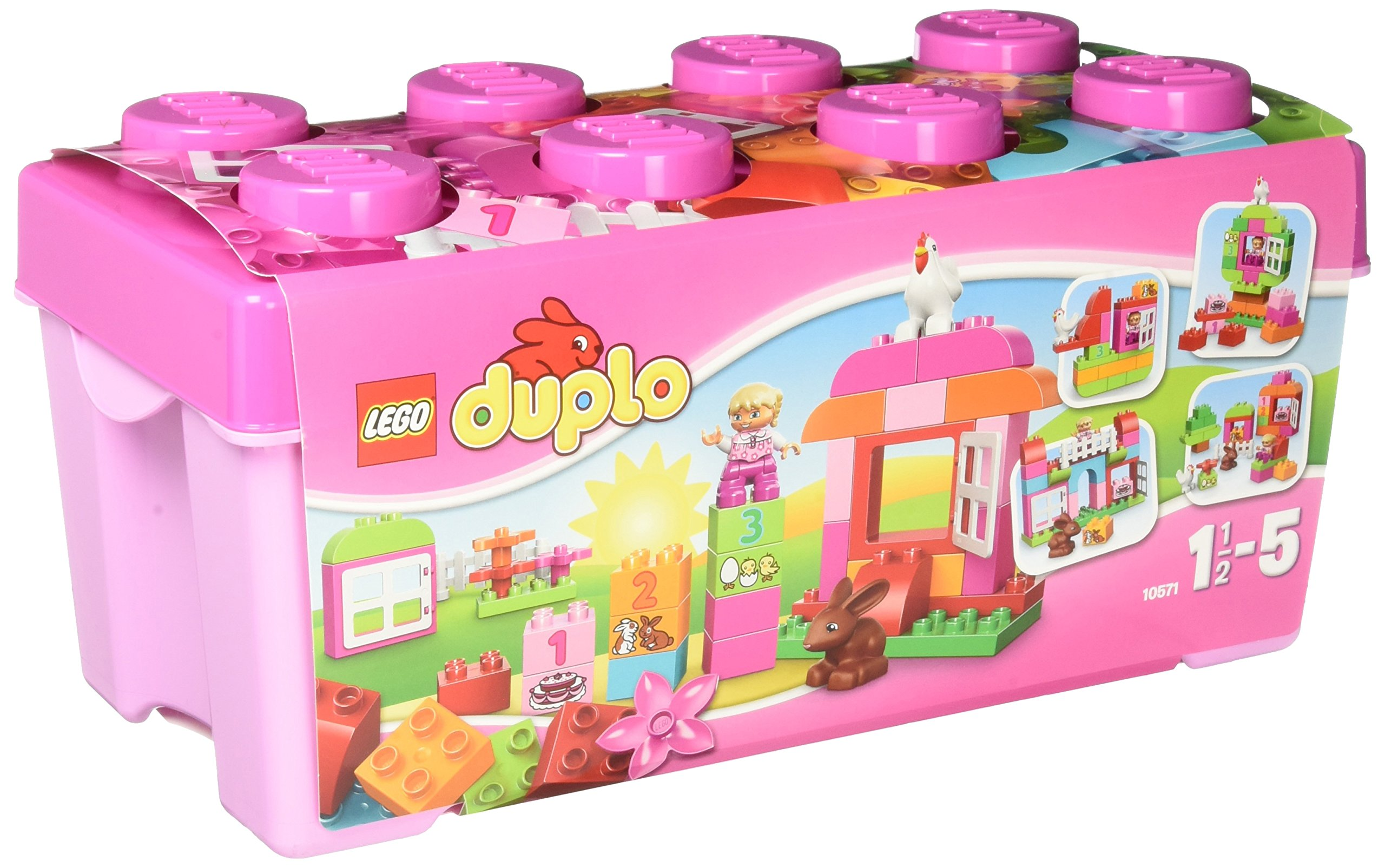 LEGO DUPLO Creative Play 10571: All-in-One-Box-of-Fun (Pink) Building Blocks