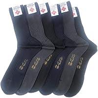 Lucchetti Socks Milano 6 PAIA calze da uomo SANITARIE filo di scozia 100% cotone rimagliate Made in Italy