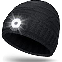Mens Stocking Fillers LED Hat - Gifts for Dad Hat Beanie with Light, Secret Santa Gifts Running Cycling Fishing Gifts…