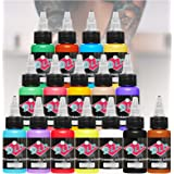 DLD Tattoo 16 basiskleuren tattoo-inkt, set pigment kit, 1 ounce professionele tattoo-supply voor tattoo, kleur, schoonheid,