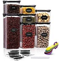 Aitsite Boîte de Rangement Cuisine Lot de 7 Boîtes à Céréales sans BPA Boîte de Conservation Alimentaire Hermétique en…