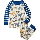 Hatley Organic Cotton Raglan Long Sleeve Printed Pyjama Set Juego de Pijama para Niños