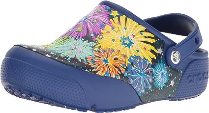 crocs FunLab Lights Fireworks Boys Clog in Blue