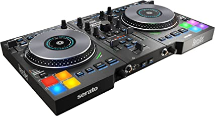 Hercules DJControl Jogvision USB DJ controller for Serato with In-Jog Displays and AIR Control