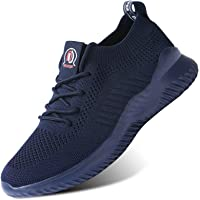 Mens Slip-On Trainers Walking Running Shoes Tennis Sneakers Lightweight Breathable Mesh Soft Sole
