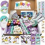JuniorToys Enhörningsparty 100 småleksaker – present, tombola, skolväska innehåll, barnets födelsedag – enhörningstemafest