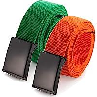 """Mile High Life Cintura regolabile fino a 52""""con fibbia militare nera (16 colori e opzioni di combinazione)"""