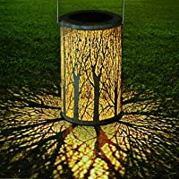 LED Solar Laterne für Draußen, GolWof Solar Garten Hängende Laterne Zylinderförmige Nachtlicht Wasserdicht IP44 mit…