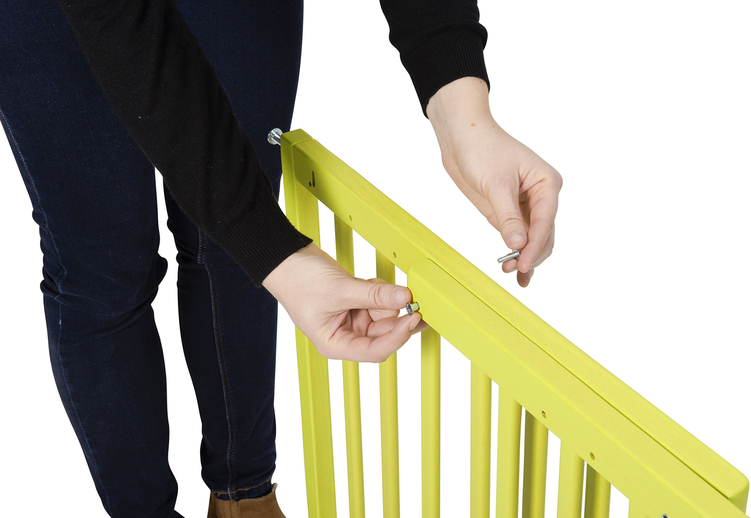 Badabulle Color Pop Safety Gate, Yellow Badabulle Mountable in just 7 minutes Easy to open Swinging door 6