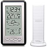 Technoline WS-9130- Digital väderstation med radiostyrd klocktidssignal, vit/svart