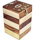 ITOS365 Handmade Wooden Piggy Bank - Money Bank - Coin Box - Money Box - Gift Items for Kids