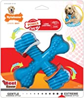 Nylabone Dura Chew X Bone Beef Flavour Dog Chews for Extreme Chewers, Large