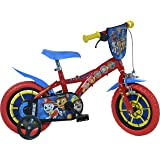 Dino Bikes PW412 Paw Patrol kinderfiets blauw-rood 12 inch jongensfiets