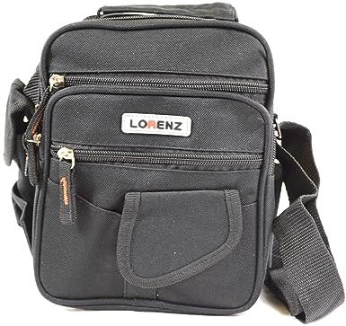 b2558d2983 Handy in tela, multiuso Lorenz-Borsa a tracolla, borsa da viaggio, colore:  nero/cachi, colore: verde, Nero (nero),: Amazon.it: Scarpe e borse
