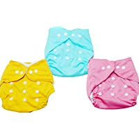 MOMY MOM Reusable Pocket Cloth Diapers for Babies | Adjustable Washable Cloth Nappies; No Inserts Included, 0-24 Months…