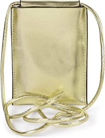styleBREAKER Damen Handy Umhängetasche in Metallic, Schultertasche, Handy-Tragetasche, Mini Bag 02012307