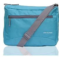 Dein Kleider Nylon Sling Cross Body Travel Office Business Messenger one Side Shoulder Bag for Men and Women (Aqua)