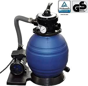 vidaXL Pompe à Filtre à Sable de Piscine 400 W 11000 l/h Pompe de Filtration
