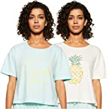 Amazon Brand - Eden & Ivy Women's Relaxed Fit T-Shirt (Pack of 2)