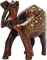 Tribes India Wooden Decorative Camel Figurine (10 cm x 4 cm x 8 cm)