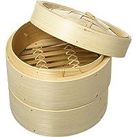 Vogue K302 Cuiseur vapeur en bambou 15,2 cm, ustensile de cuisine, légumes, crêpes, beige