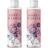 Reines Rosenwasser MonteNativo 2x200ml (400ml) - 100% natürlich, echtes Gesichtswasser, Rein und Naturbelassen…