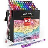 Arteza Gelpennen, Gelpennen-set in 60 verschillende kleuren, zuurvrije en niet giftige pennen met een punt van 0,8-1 mm, Penn