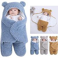 Coperta con cappuccio per neonato sacco a pelo sacco sacco Swaddle inverno caldo pile ricevere coperta con gambe maglia…