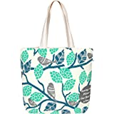 EcoRight Large Canvas Tote Bags for Women with Zipper | Shopping Bag for Grocery, Travel, Beach | Shoulder Handbags for Women