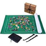 Jaques of London Jigsaw Mat – up to 2000pc Puzzle Mat with Foldable Cloth and Jigsaw Roll Mat inflatable inner tube with…