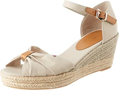 Tommy Hilfiger Basic Opened Toe Mid Wedge, Sandales Bout ouvert Femme
