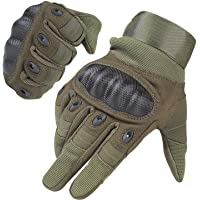 HIKEMAN Full Finger Half Finger Gloves for Men and Women Touch Screen Hard Knuckle Gloves for Outdoor Sports and Work…