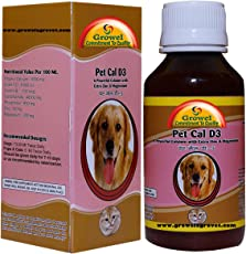 Growel Pet Cal D3 - Dog Supplements - (200 Ml)