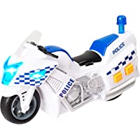 Teamsterz TZ Small Light and Sound Plastic Police Motorbike (White)