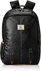 Gear Classic Anti Theft Faux Leather 20 Ltrs Black Laptop Backpack (LBPCLSLTH0101)