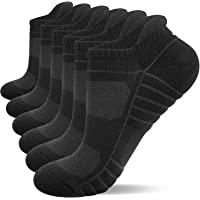 Lapulas Running Socks, 6 Pairs Cushioned Trainer Socks Sports Socks Mens Socks Cotton Ankle Socks for Men Women Ladies…