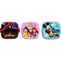 Perpetual Bliss (Pack of 5) Fancy Disney Theme Square Lunch Box Double Layer for Kids Return Gifts (Dimension)cm…
