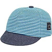 GEMVIE Cappello con Visiera Neonati Bambino Estivo Cappellini da Baseball Cotone Berretto Baseball Strisce Protezione…
