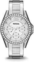 Fossil Women's 40mm Silvertone Riley Stainless Steel Watch