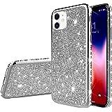 Herbests Kompatibel mit iPhone 11 Hülle Bling Überzug Glänzend Strass Diamant Handyhülle Silikon Hülle Case Durchsichtig Schu