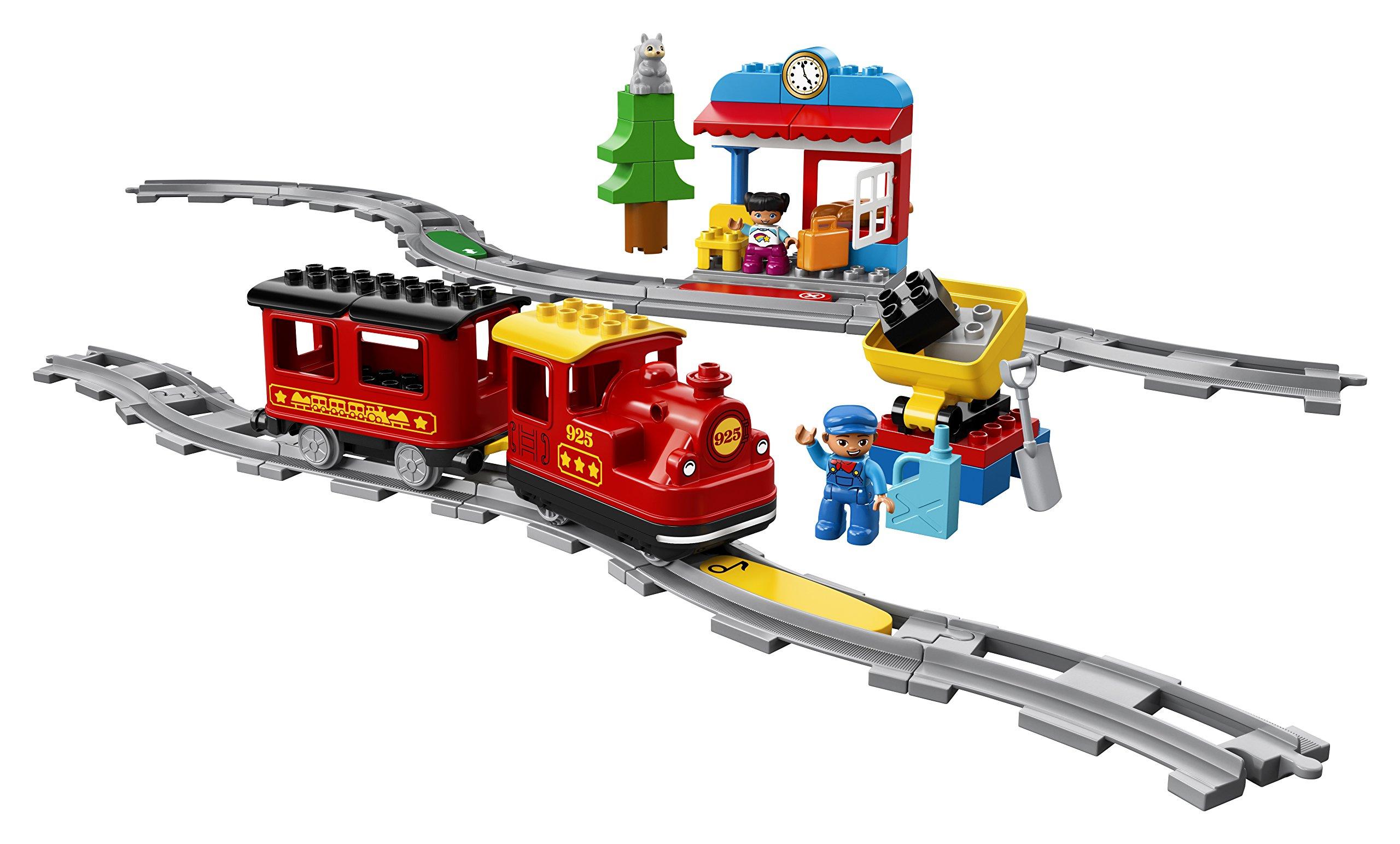 LEGO - DUPLO Treno a Vapore con Locomotiva Push And Go e 5 Mattoncini Multifunzione, Set di Costruzioni per Bambini dai… 5 spesavip