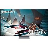 تليفزيون سمارت كيو ال اي دي 82 بوصة 8K الترا اتش دي مع ريسيفر مدمج من سامسونج QA82Q800TAUXEG - فضي اكليبس