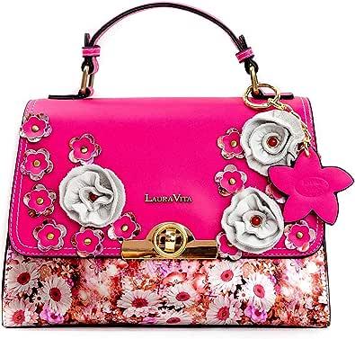 Laura Vita, 3143, borsa da donna con spalline e motivi