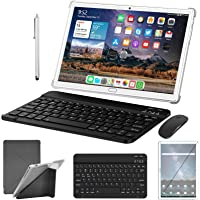 Tablet 10 Zoll Android 10.0 4G LTE Tablett PC mit 2 SIM Slot 4GB RAM 64GB ROM 128GB erweiterbar mit Tastatur Maus Stift…