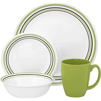 corelle geschirr set garden sketch bands aus vitrelle glas f r 4 personen 16 teilig splitter. Black Bedroom Furniture Sets. Home Design Ideas