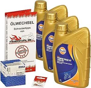 Gulf 10w 40 Öl Mahle Ölfilter Für Honda Cbf 600 S 08 10 Pc43 Ölwechselset Inkl Motoröl Filter Dichtring Auto