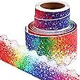 Borde de Tablón de Anuncios Adhesivo Borde de Confeti Borde de Puntos Coloridos para Fiesta Temática de Confeti Aula Oficina