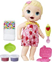 Baby Alive Super Snacks Snackin' Lily Baby: Blonde Baby Doll That Eats, with Reusable Baby Alive Doll Food, Spoon and 3 Acces