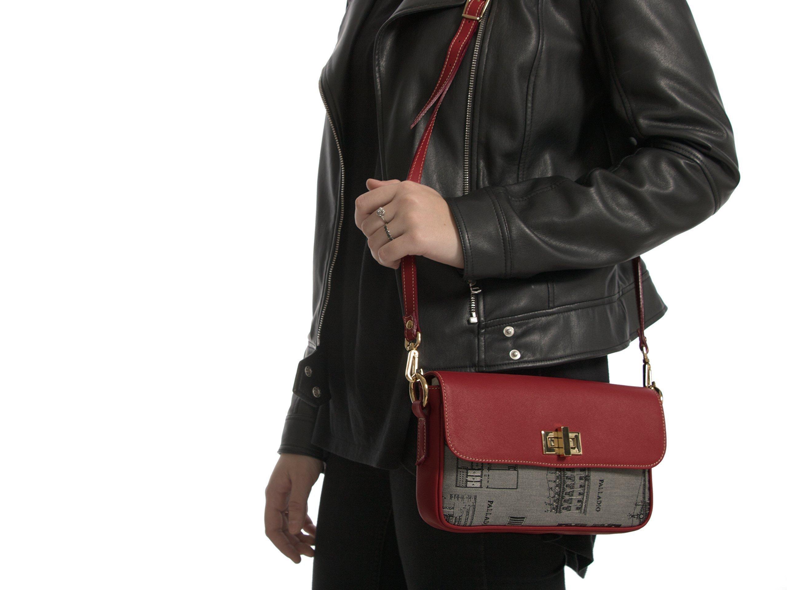 Borsa VILLA LA MALCONTENTA, Clutch bag with removable shoulder strap. Made in Italy - handmade-bags