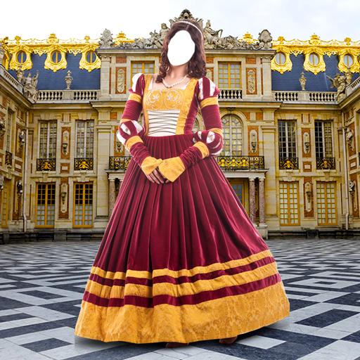 Mittelalterliche Frauen kleiden Montage